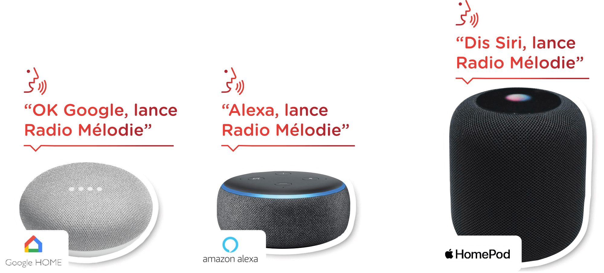 Assistants vocaux - Google Home Assistant, Amason Alexa et Apple Homepod